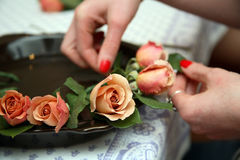 Preparing Roses Stock Images