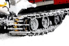 Ski resort, ratrak , snowblower Royalty Free Stock Images