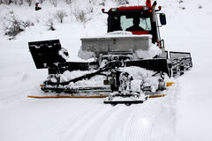 Ski resort, ratrak , snowblower Royalty Free Stock Photo