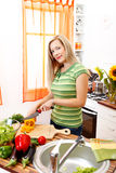 Preparing salad Royalty Free Stock Photo