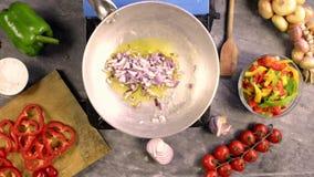 preparing the sauce for pasta stock video