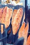Smoking salmon- savulohi Royalty Free Stock Images