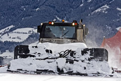 Preparing ski slope Royalty Free Stock Photography