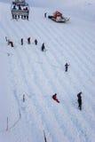 Preparing Slope for Ski Race Stock Photo