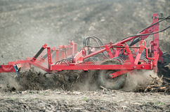 Preparing the soil in the field Stock Photos