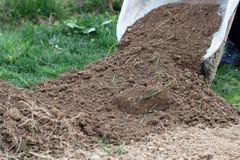 Preparing soil for garden Royalty Free Stock Images