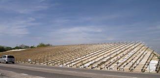 Preparing for solar power. Preparing everything for solar panels before the hot season Stock Photo