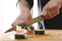 Preparing sushi Royalty Free Stock Photo