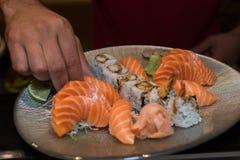 Preparing sushi. Stock Photo