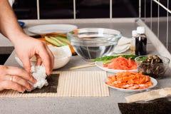 Preparing sushi Stock Photography