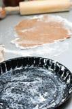 Preparing a tart base Stock Images