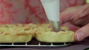 Preparing Tartalets stock footage