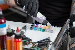 Preparing tattoo ink Stock Image