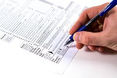 Preparing Taxes Stock Photos