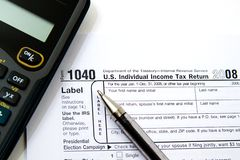 Preparing Taxes Royalty Free Stock Image