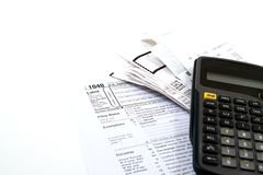 Preparing Taxes stock images