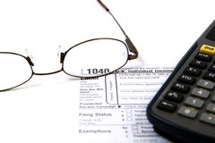 Preparing Taxes Stock Photo
