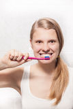 Preparing for teeth cleaning Royalty Free Stock Images