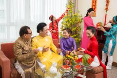 Preparing for Tet celebration Stock Photo