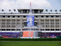 Preparing for 39th independence celebration at Independence Palace, Vietnam Royalty Free Stock Photography