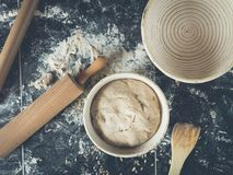 Free Preparing The Best Sourdough Bread Ever Royalty Free Stock Photos - 109531828