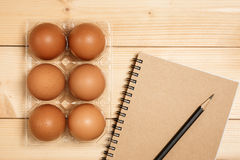 Preparing to cook with egg Royalty Free Stock Photo