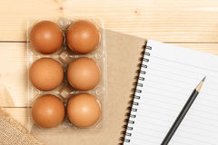 Preparing to cook with egg Royalty Free Stock Photos
