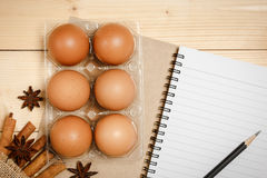 Preparing to cook with egg Stock Image