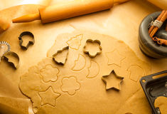 Preparing to do gingerbread cookies for Christmas Stock Photography