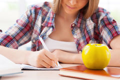 Preparing to exams. Royalty Free Stock Photo