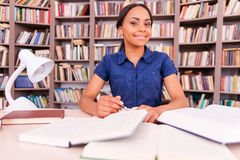 Preparing to her final exams. Stock Image