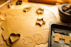 Preparing to make gingerbread cookies Stock Photography