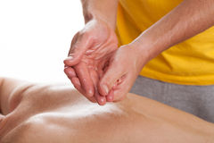 Preparing to massage. Physiotherapist preparing hands to professional health massage Stock Images