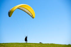Preparing to Paraglide Royalty Free Stock Image