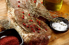 Preparing to Roast Beef Stock Image