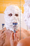 Preparing to shave Stock Photo