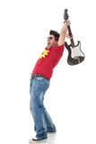 Preparing to smash electric guitar Royalty Free Stock Photos