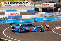 Preparing to Start for the DTM in Munich Stock Photo