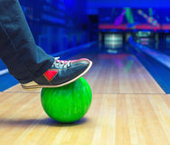 Strike on a bowling ball Stock Photos