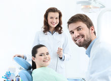 Preparing to treat carious teeth Royalty Free Stock Photos
