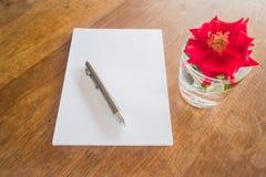 Preparing to write love letter Stock Photo