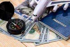 Travel document money concept Stock Photos