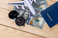 Preparing for a travel document money. Concept Royalty Free Stock Photo