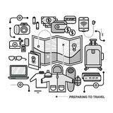 Preparing Travel Necessary Items What to Pack Royalty Free Stock Photo