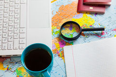 Preparing for travel, travel , trip vacation, tourism. Travel planning Stock Photography