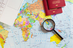 Preparing for travel, travel , trip vacation, tourism. Travel planning Stock Photo