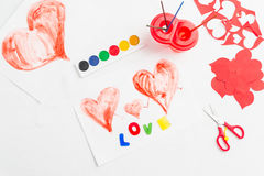 Preparing for Valentine's Day royalty free stock photos