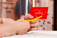 Preparing for Valentine's day Royalty Free Stock Image