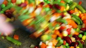 Preparing vegetable mix Royalty Free Stock Photography