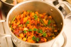 Preparing vegetable ragout Stock Image